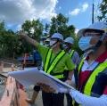 本局李鎮洋局長指導油礦野溪整治三期工程並見證安全衛生政策(共4張)